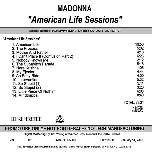 American Life Sessions