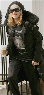 Madonna wearing Ed Hardy T-shirt in 2007