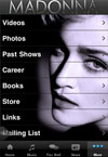 Madonna's official app for iPhone and Android mobile phones