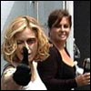Madonna and Caresse on the set of the Die Another Day video