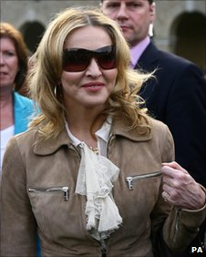 Madonna at the Lawnfest charity event