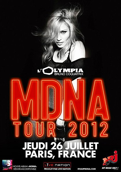 news olympia poster Madonna Special MDNA Tour Intimate Show