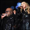 Madonna and Cee Lo Green performing at the Super Bowl