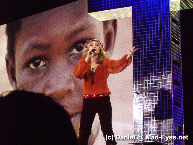 Madonna already focused on the Raising Malawi project during Live To Tell on tour