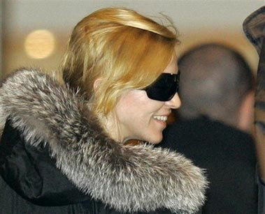 Madonna arrives in Moscow