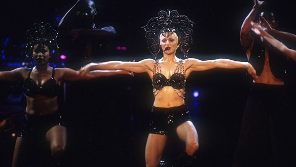 Madonna performs Vogue at the 1993 Girlie Show