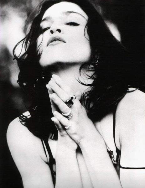 Madonna photographed by Herb Ritts, to promote Like A Prayer