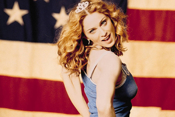 Madonna in her American Pie video