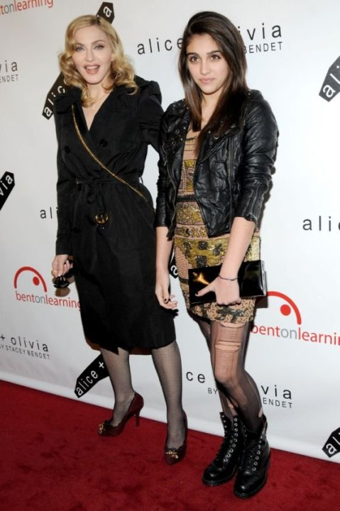 Madonna and Lourdes at the second annual Bent On Learning benefit