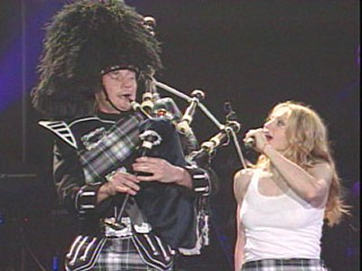 Madonna and her bagpiper