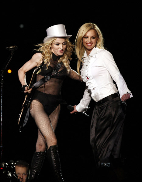 Madonna performing Human Nature with Britney in LA